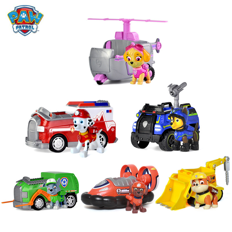 Paw Patrol Dog Puppy Patrol Car Patrulla Canina Action Figures Puppy Patrol dog Toy Kids Children Toys Gifts Genuine hao gao letoys canine patrol dog toys russian anime doll action figures puppy park toy patrulla canina juguetes gift for child