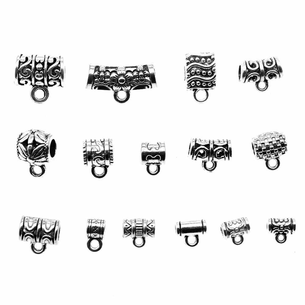 20pcs Charms Connector Bails Beads Antique Silver Bails Beads Charms Jewelry Findings Bails Beads Connector