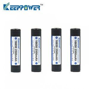 10 stücke KeepPower 16650 2500mAh geschützt lithium-akku P1665J 3,7 V drop verschiffen batteria