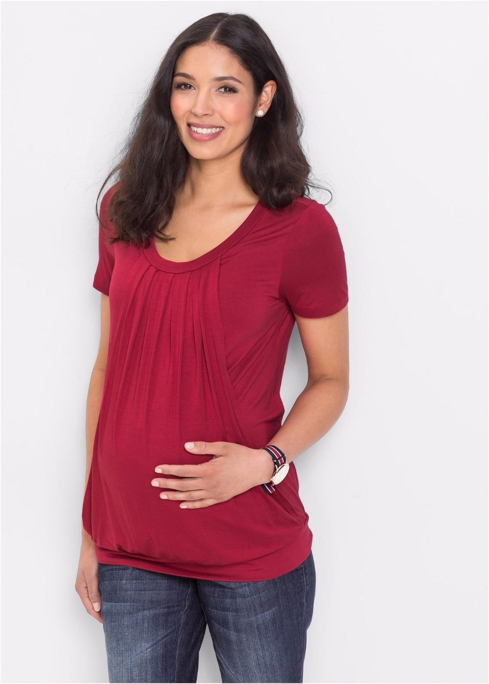 Tops Maternidade T-shirt De Enfermagem amamentação Para