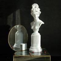 Plaster Sculpture Portrait Ins Posing Props European Living Room Sketch Creative Decoration Home Decoration Crafts