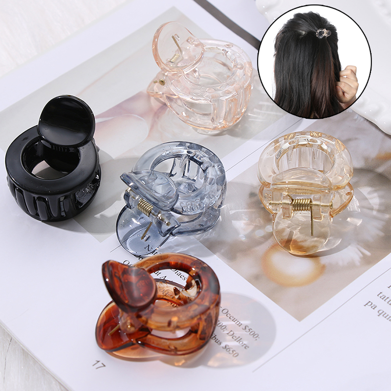 1 PC New Fashion Acrylic Women Hair Claw Simple Mini Hairpins Fashion Girls Bun Maker Hair Clip Clamp DIY Tool Hair Accessories