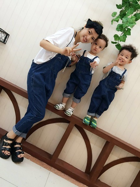 Preax Kids Family look mother daughter son denim bib overalls suspenders jeans for girls pants Family fitted Women one pieces