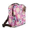 2016 crianças saco de escola dos meninos & meninas coruja dos desenhos animados mochila das crianças saco de viagem colorido criança bolsa de ombro mãe filha sacos
