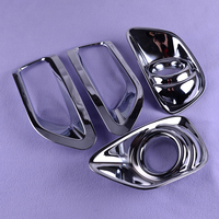 CITALL Fit For Jeep Compass 2011 2012 2013 2014 Chrome Front Rear Tail Fog Light Lamp Cover Trim Bezel Garnish Bumper Car Auto