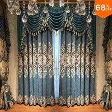 Для окон занавеска шторы из нитей 3D синяя занавеска s Роскошная вышивка занавеска зеленый синий полис бренд драпировка Экстремальная затемненная драпировка дизайн для widnow W 2,5 м бабочки на шторы шторы синие