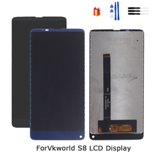 Original For VKworld S8 LCD Display Touch Screen Digitizer For VKworld S8 Display Screen LCD Phone Parts Free Tools for nokia n95 not n95 8gb n96 original phone lcd screen digitizer display free tools free shipping