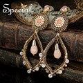 Специальный новинка позолоченные серьги старинные опал серьги стразы пронзительный ювелирные изделия подарки для женщин ED16028