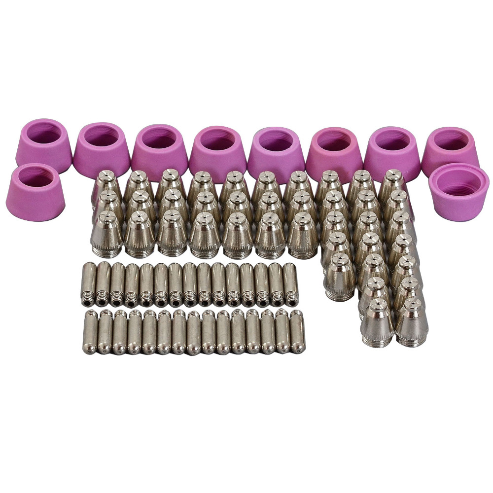 SG-55 AG-60 Plasma Cutting Cutter Torch Accessories KIT Plasma Nozzles TIPS 1.2mm 60Amp,80pcs 5m sg 55 ag 60 plasma cutter cutting torch complete 40 60amp