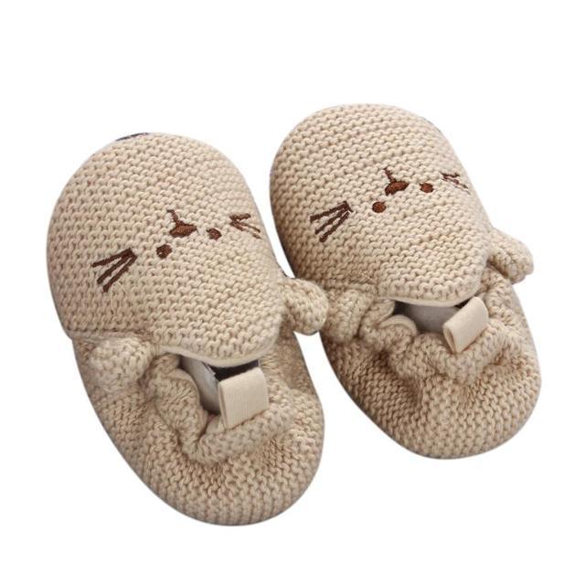 Handmade Baby Knit Crib Shoes