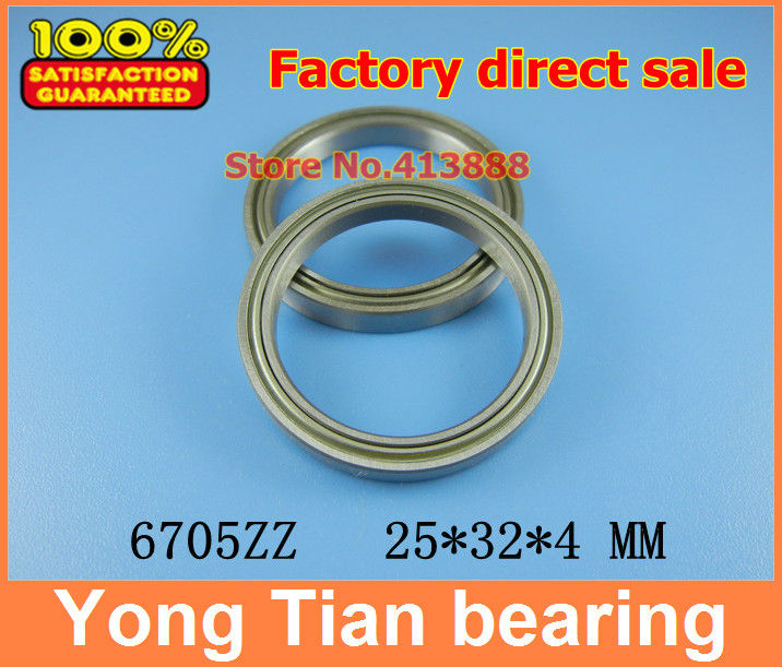 The high quality of ultra-thin stainless steel bearing 6705 6705 Z S61705ZZ SS6705ZZ S6705ZZ 25*32*4 mm 440C material kcchstar the eye of god high quality 316 titanium steel necklaces golden blue