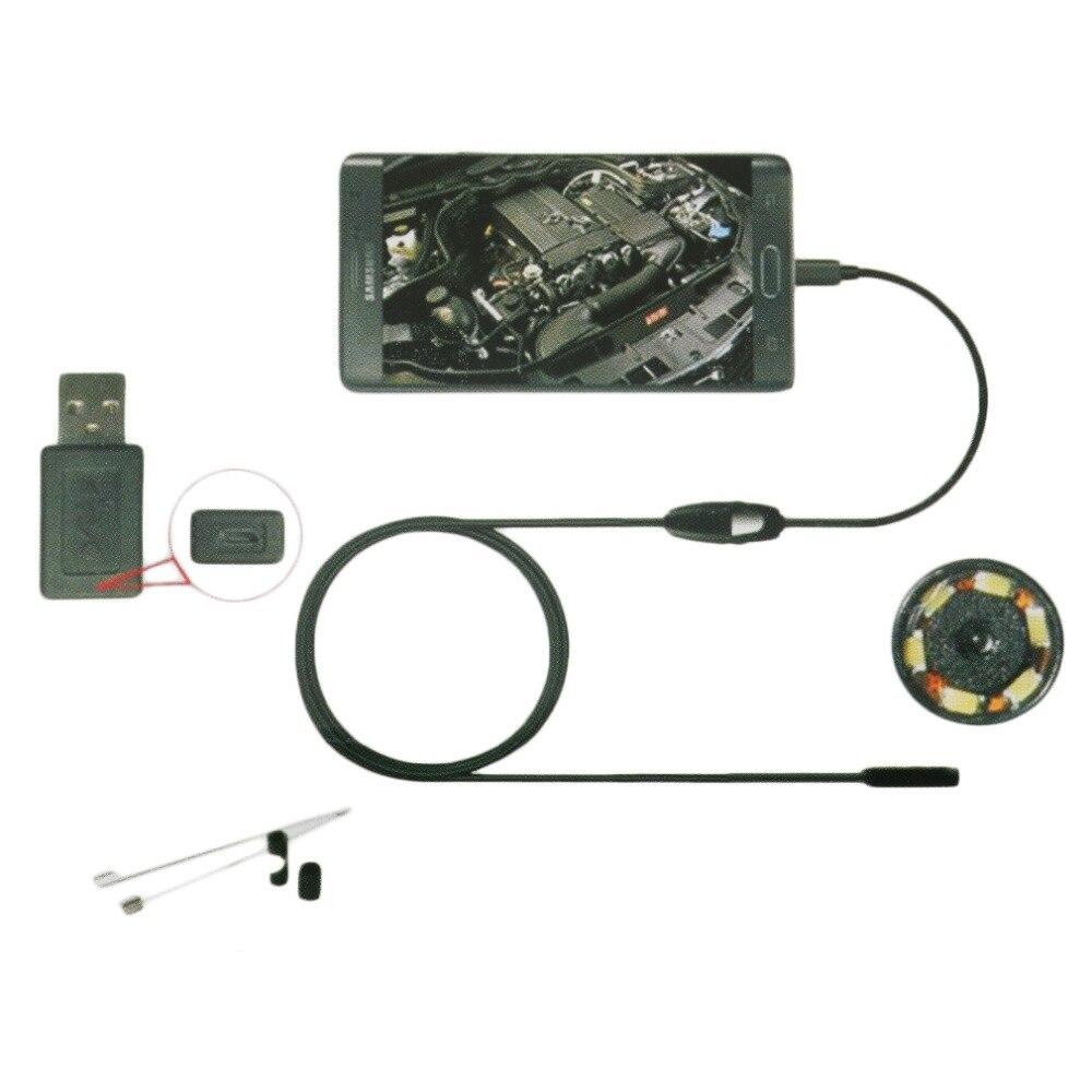 6LED 7mm Lente Dell'endoscopio di Controllo Impermeabile Periscopio Della Macchina Fotografica per Android Trasporto di Goccia