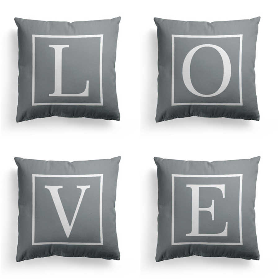 how to use decorative pillows letter alphabet printed grey pillowcase decorative pillows cushion how to use throw pillows on a bed letter alphabet printed grey pillowcase