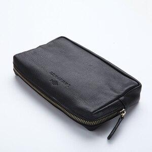 Image 4 - LANSPACE skórzany portfel męski modne portmonetki znane marki torebka