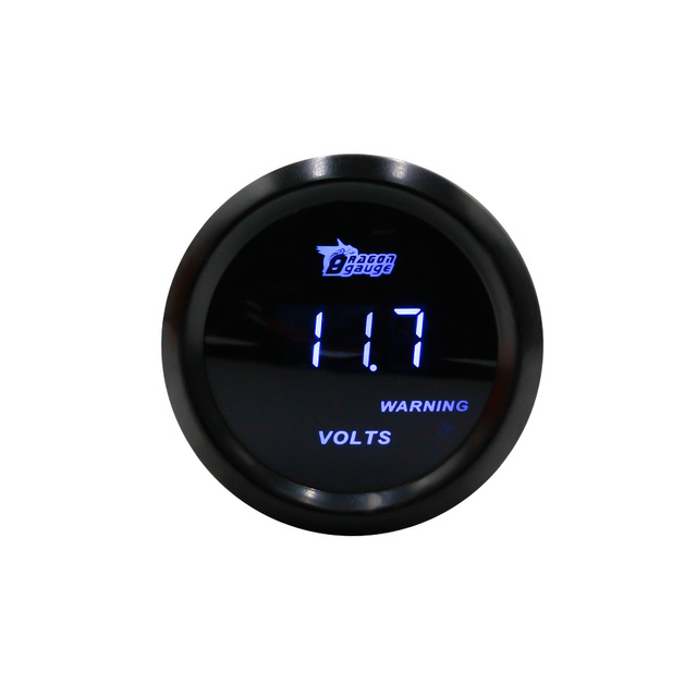 "2"" 52mm Digital volt meter black case auto gauge/racing volt gauge/car voltmeter gauge/voltimetro"