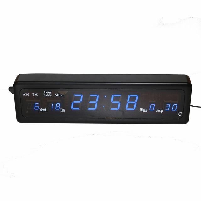 0ad9b4126097dc Carillon orario Scrivania Sveglia Elettronica Orologio Da Parete A LED con  Calendario di Temperatura Digitale Blu