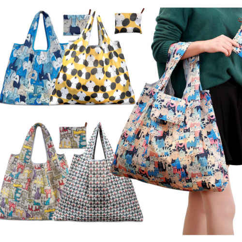 1Pcs Floral Foldable Eco Friendly Shopping Storage Bags Pouch Ladies Hangale Reusable Bag  Travel Organizer Tote Handbag New