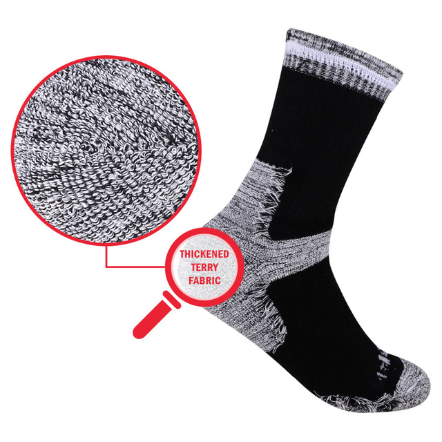 YUEDGE Men's Wicking Cushion Cotton Socks 4
