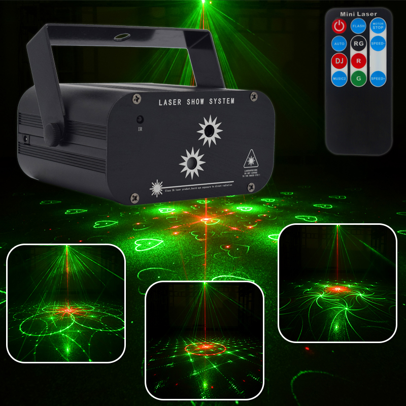 YSH RG Laser Projector Christmas 48 Patterns Disco Light Star Shower DJ Party Lights LED Stage Decoration Light for Home