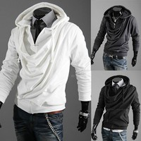 2013 Autumn New Arrival Man Clothing Tops Cotton Leisure Fashion Zip Up Man Long Sleeved Hoodies