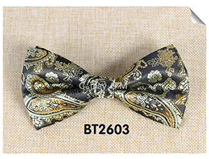 Мода кешью цветы Классический Боути для человека галстуки Регулируемая свадьба лук Галстуки полиэстер человека Bowties - Цвет: BT2603