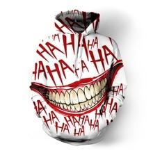 цена на PLstar Cosmos Funny Ha Ha the Joker Smile 3D Print Fashion Hoodies Women/Men's Casual Hero Hooded Sweatshirt Tee Tops