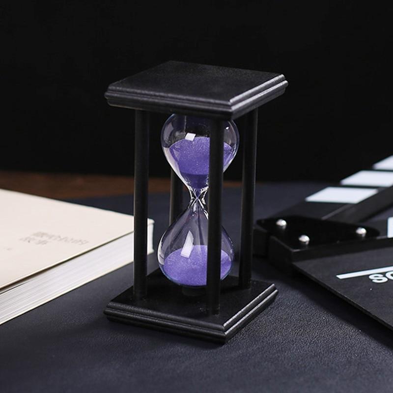 30 Minuten Kristall Transparent Sand Sanduhr Timer Sanduhr Timer - Wohnkultur - Foto 3