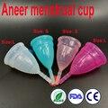 100 pcs /lot Aneer menstrual cup high quality copo menstrual de silicone medica for women diva feminine cup menstruelle