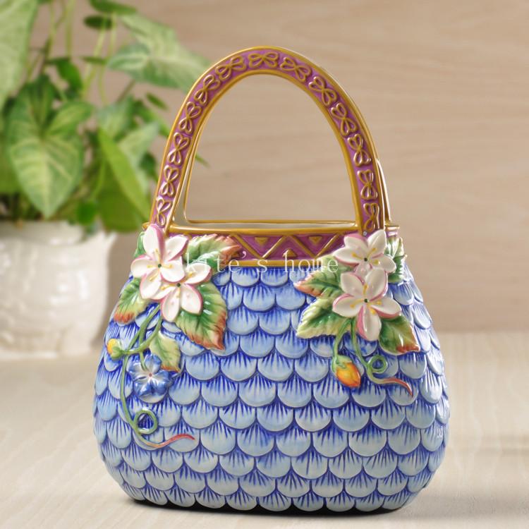 moda vintage flores cestas decoracin del hogar florero de cermica artesanas de decoracin de la habitacin
