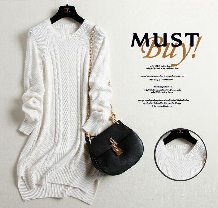 forfremmelse! 100% Pure Cashmere Strikket Dame O-Neck Winter Sweater - Dametøj - Foto 4