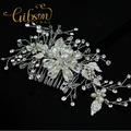 Free Shipping Korean Style Handmade Bride Hair comb Wedding Accessories Jewelry