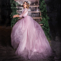 Luxury Purple Evening Dresses Robe De Soiree Beading Embroidery Tulle Evening Party Dress Ever Pretty Dress