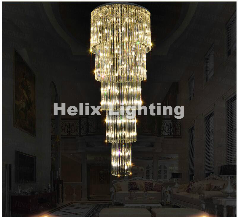 D800mm H1900mm Chrome Modern Hotel Crystal Chandelier Pendant Lamp G9 LED Bulb Hotel Chandelier AC 100% Guaranteed Free Shipping modern pendant crystal chandelier 110v 220v 28w pure white 71 60cm free shipping