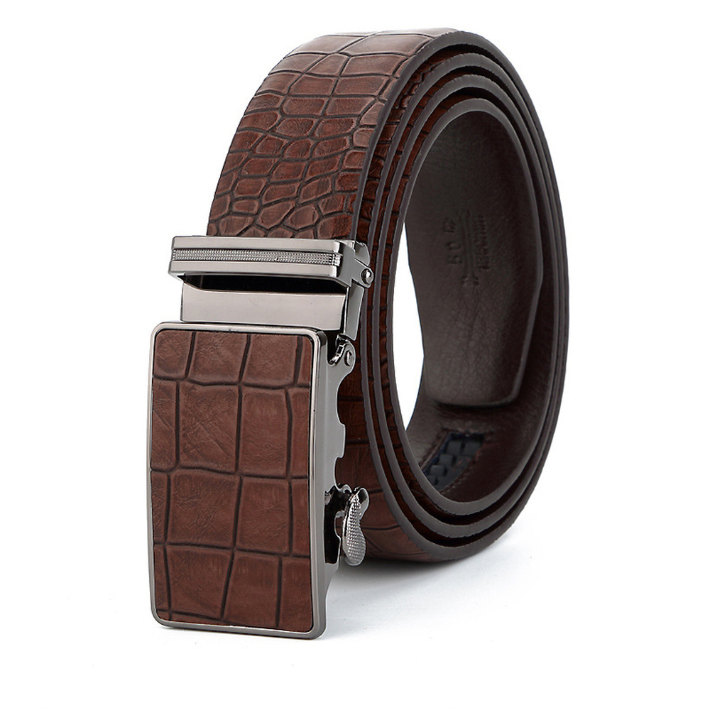 Belt Automatic-Buckle Blue Wedding Male Casual High-Quality Simple Men Participate Men's title=