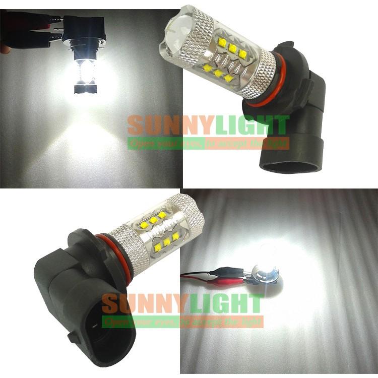 HB3 9005 80W LED Bulbs for Cars High Power Cree XB-D Ultra Bright 6000K Xenon White Automobiles Head DRL Fog Lights Source (10)