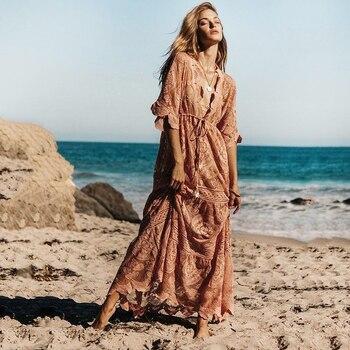 сексуальное вязаное кружевное платье парео для кафтан для женщин