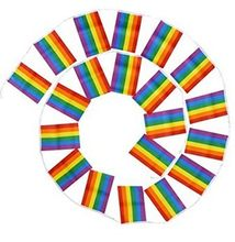 Nuovo 14*21 cm 5 metro Single-sided bandiera Arcobaleno 20 superficie Poliestere standard di Bandiera Gay Pride di Pace bandiere Bisessuale Appeso Bandiera(China)