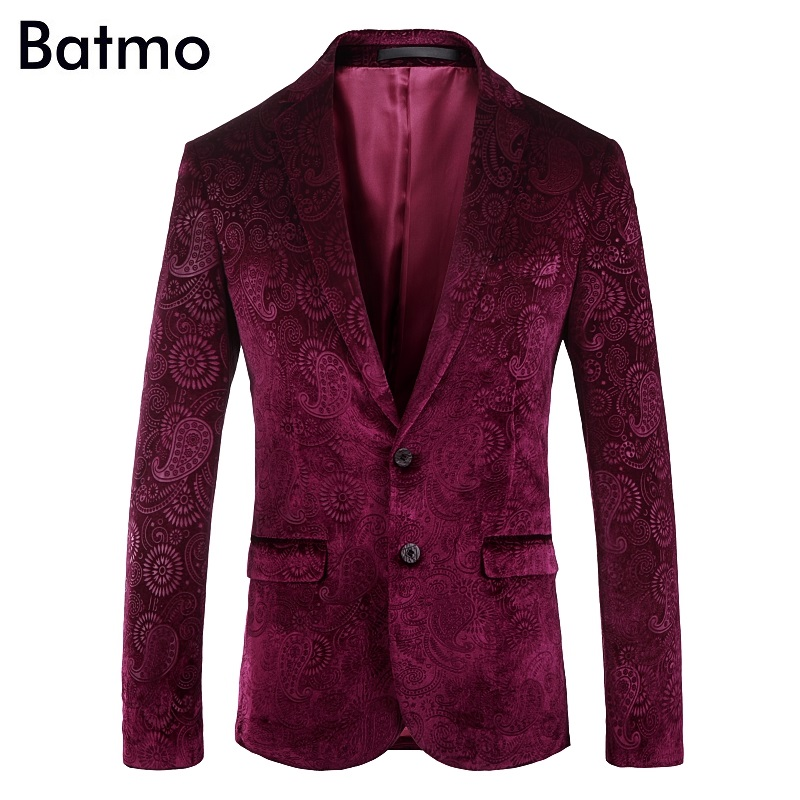 Blazers Haute Batmo Casual Velours Costumes Nouvelle Arrivée taille De Femmes 2018 Red 217 Blue Hommes Hommes 216 Qualité 216 Occasionnels Vestes Imprimé Plus 08x8rtF