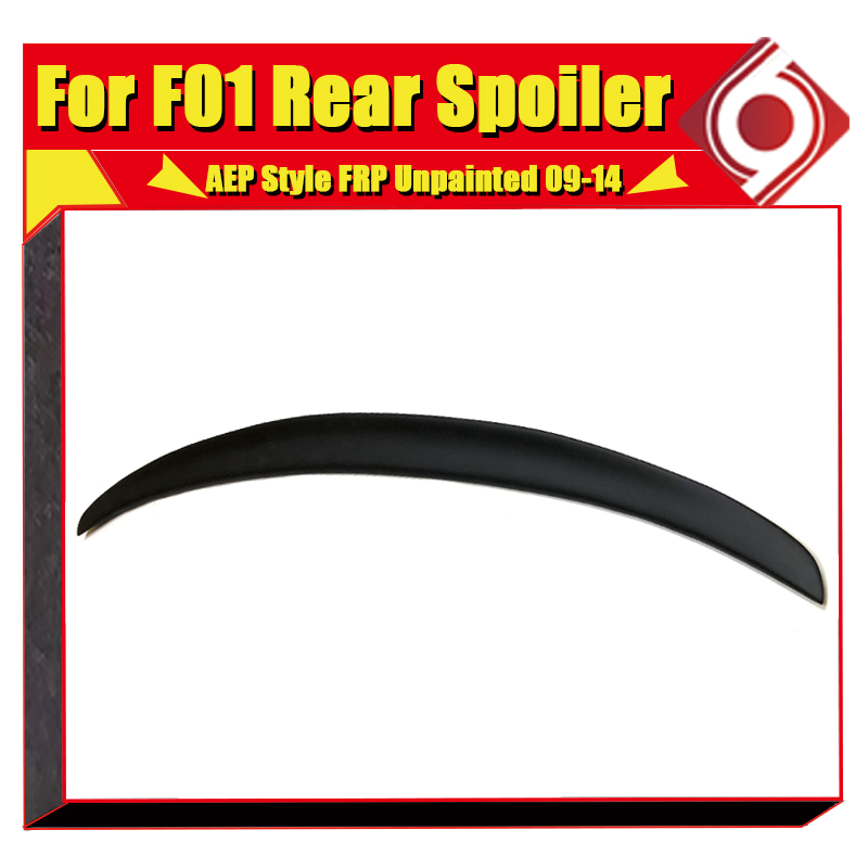 For BMW F01 4 door Saloon P style Rear boot spoiler wing FRP Unpainted 7 series 740i 740Li 745i 760i Trunk wings spoiler 2017 in in Spoilers Wings from Automobiles Motorcycles