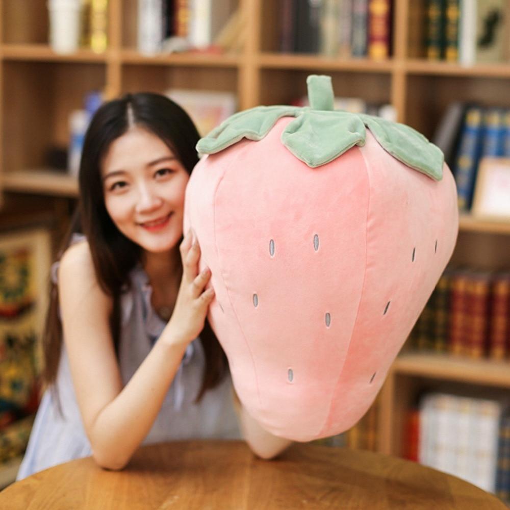 Soft Strawberry Pineapple Stuffed Pillow Sofa Cushion Fruits Plush Baby Toys For Children Birthday Gift for Kids Girls Friends