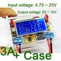 DC DC step-down4.75 ~ 23 V a 0-15 v 5 v 12 v fuente de alimentación ajustable de empuje módulo de botones del metro de VOLTIO AMPERIOS + caso