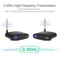 REDAMIGO 2.4GH 150M Wireless AV Transmitter & Receiver TV Broadcasting Audio Video sender TV Signal receiver 3 RCA RTE330+