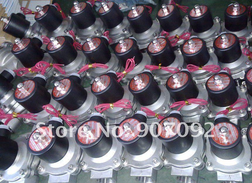 """3/"""" Электрический Соленоидный клапан VITON из нержавеющей стали модель 2S200-20-V Стандартное напряжение 12 V-240 V водяной Соленоидный клапан"""