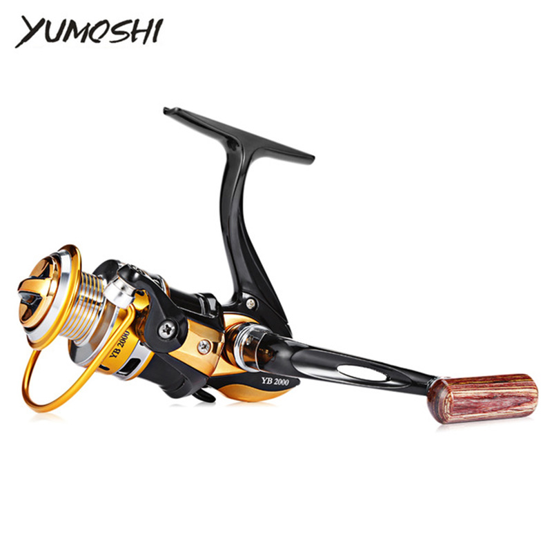 Yumoshi YB 2000-7000 Series Aluminum Metal Cup Fishing Wheel Line Spinning Fly Fishing Wheels Metal Rocker Ocean Beach Lake