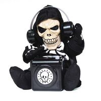 Halloween Skeleton Props Electric Sound Control DJ Ghost Horror Props Trick Toys Talk Gag Gifts Novelty