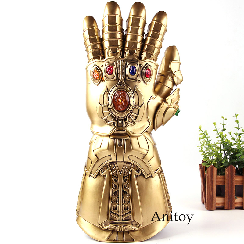Action Figures Marvel Avengers Infinity War Thanos Glove Infinity Glove Cosplay 1:1 with LED Light PVC Collection Model Toys