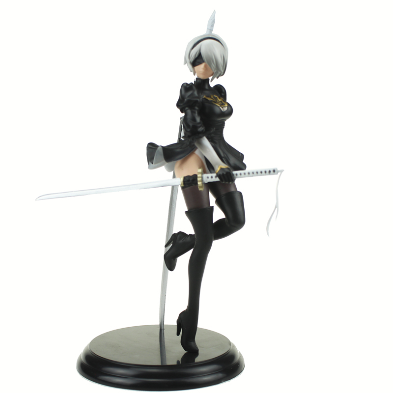 Free Shipping 10 NieR: Automata Game YoRHa No. 2 Type B 2B Stand Ver. Boxed 25cm PVC Action Figure Model Doll Toys Gift stock sale pvc dota crystal maide game doll action figure model toy for christmas gift 22cm free shipping