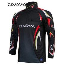 Daiwa t shirt de pêche pour hommes, t shirt dété, professionnel, vêtements de protection solaire UPF 50 +, respirant