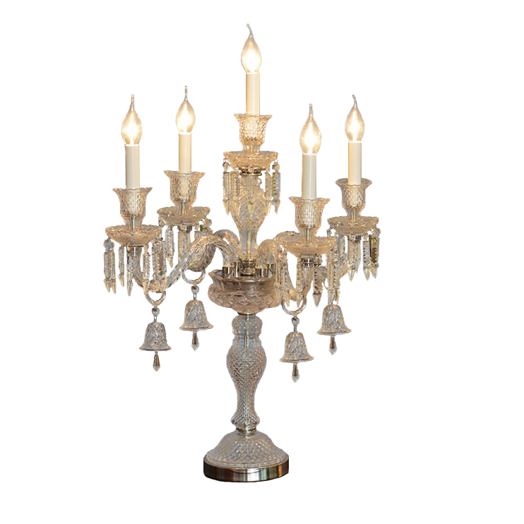 European Baccarat Crystal Candle Table Lamp Living Room