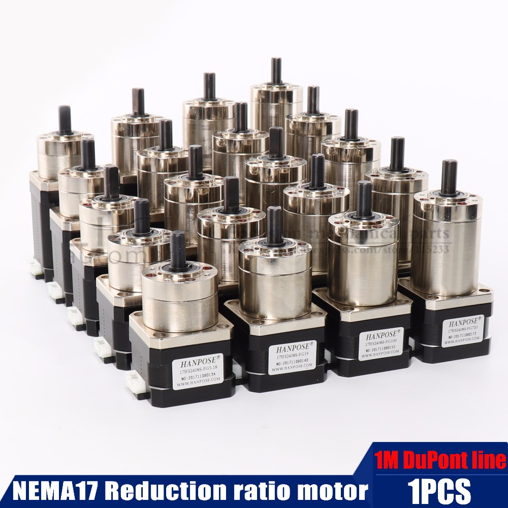 Planetary geared Gearbox Nema 17 Stepper Motor All Ratio Geared For 3D Printer Extruder mechanical arm robot motor image